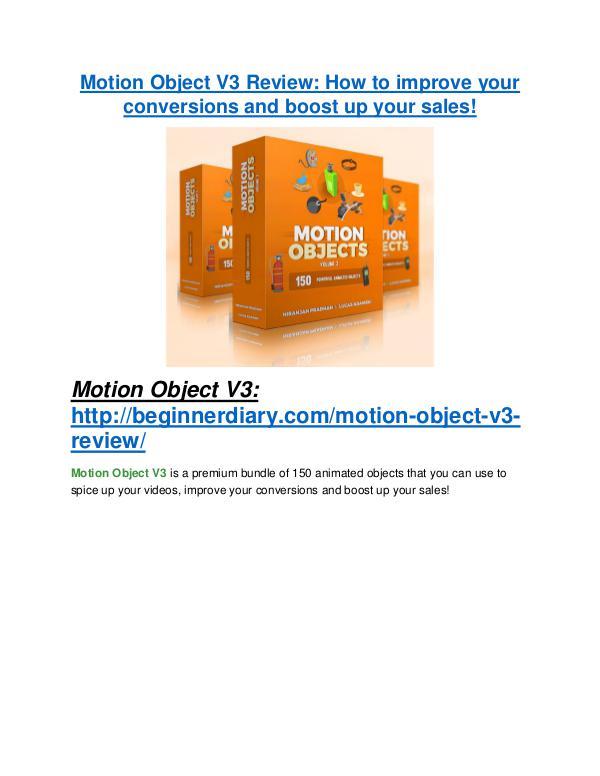 marketing Motion Object V3 review and (SECRET) $13600 bonus
