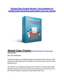 Simple Copy Creator review - Simple Copy Creator +100 bonus items