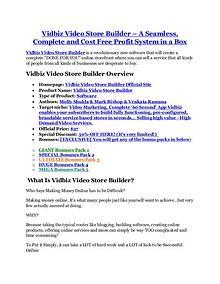 Vidbiz Video Store Builder review & bonus - I was Shocked!