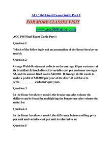 ACC 568 TUTOR Education  Terms/acc568tutor.com