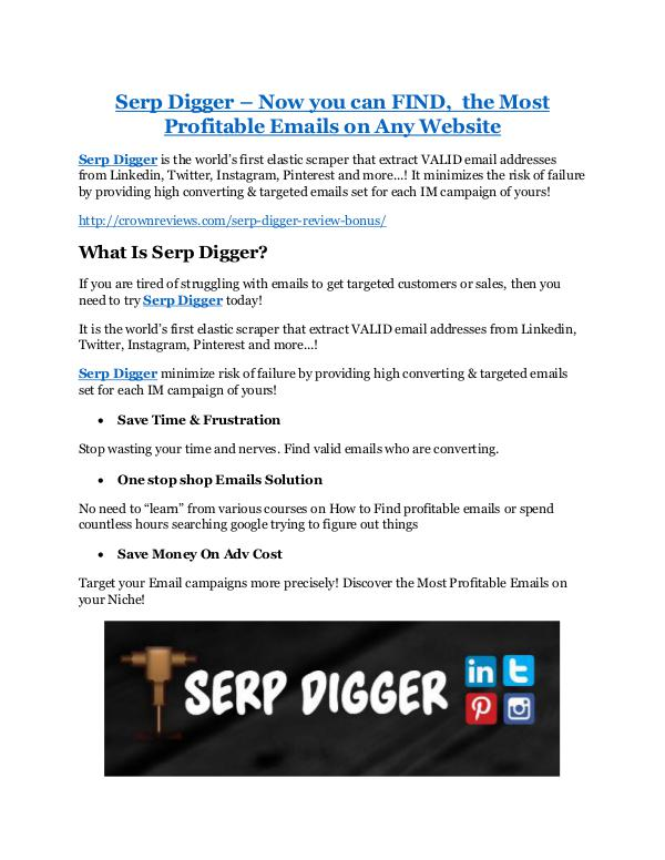 Marketing Serp Digger Review & (Secret) $22,300 bonus