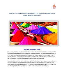 Holi 2017- Make Coloured Powder with Talc Powder to Celebrate Holi