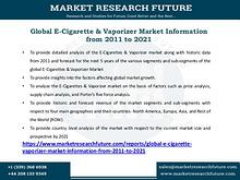 Global E-Cigarette & Vaporizer Market Information from 2011 to 2021