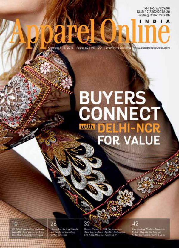 Apparel Online India Magazine October 1st Issue 2018