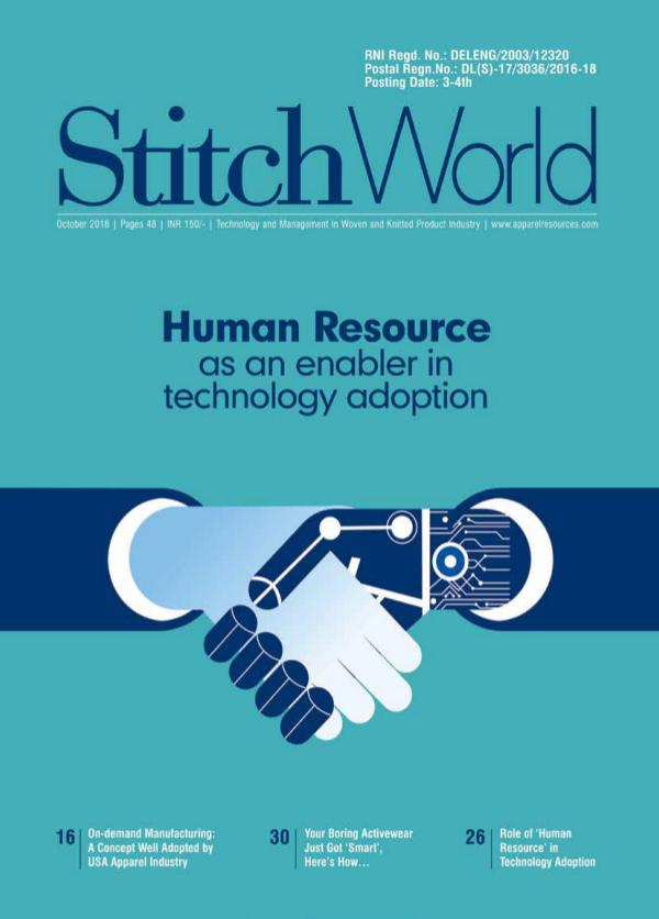 Stitch World Magazine October Issue 2018