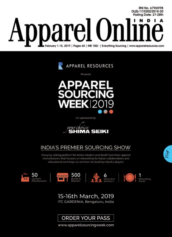 Apparel Online India Magazine February 1st Issue 2019