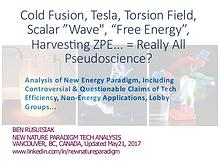 "Cold fusion, Tesla, Scalar wave, Torsion field, ""Free energy"""