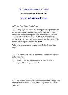 ACC 304 Course Great Wisdom / tutorialrank.com