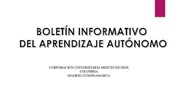 Boletín Informativo Boletín Informativo.