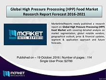 Comparative Global High Pressure Processing (HPP) Food Market by 2021