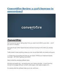 Convertifire review & huge +100 bonus items