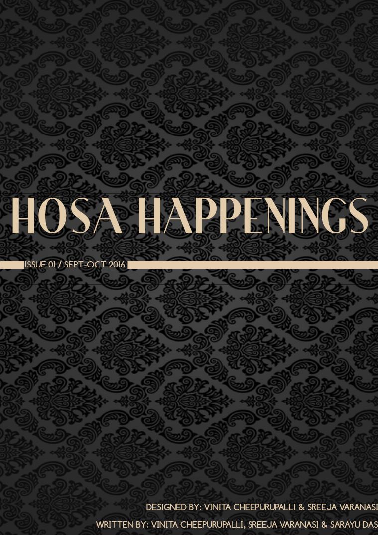 HOSA Happenings Issue 1, September-October 2016