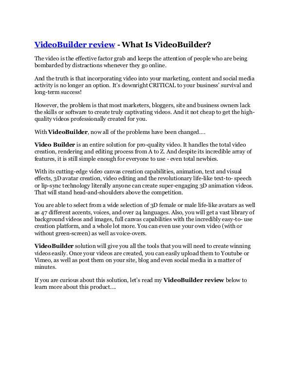 Marketing VideoBuilder Review & HUGE $23800 Bonuses