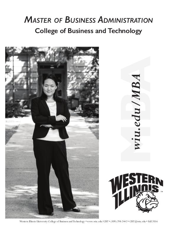 Western Illinois University Master of Business Administration Program Master of Business Administration