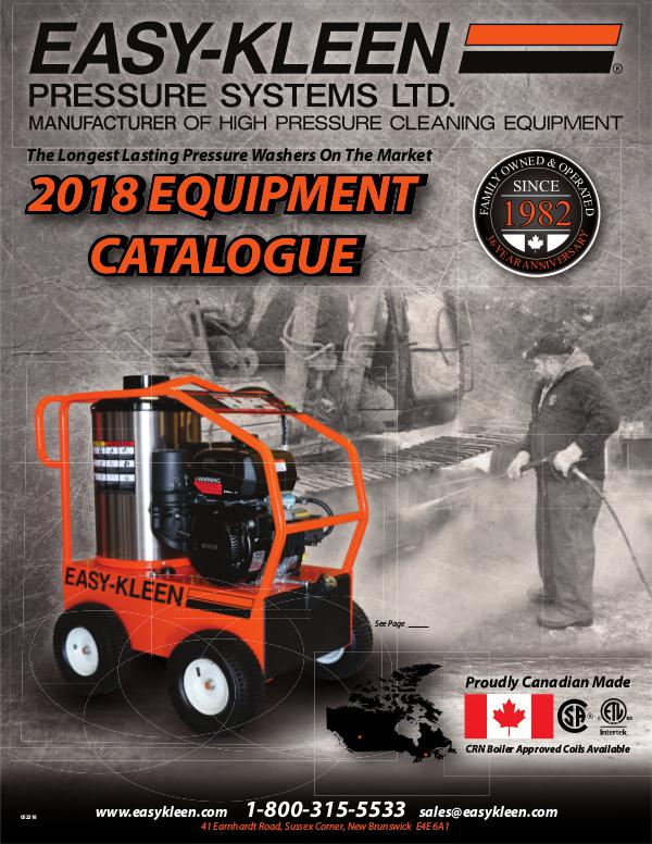 Easy-Kleen 2018 Canadian Catalogue 2018 Easy Kleen Equipment Catalogue (CND)