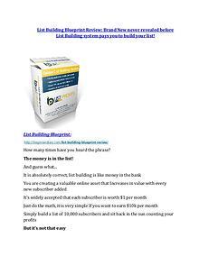 List Building Blueprint review in detail – List Building Blueprint Massive bonus
