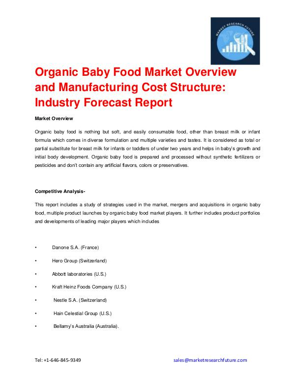 Shrink Sleeve Labels Market 2016 market Share, Regional Analysis and Organic Baby Food Market Overview, Top Manufacture