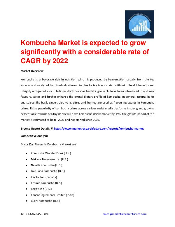 Shrink Sleeve Labels Market 2016 market Share, Regional Analysis and Kombucha Market Set for Rapid Growth and Trend by