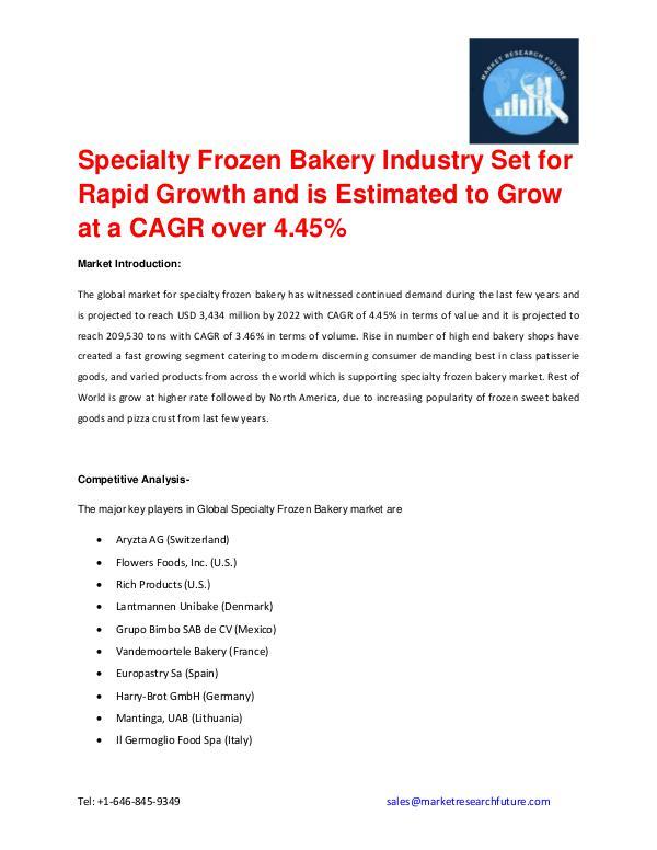 Specialty Frozen Bakery Market