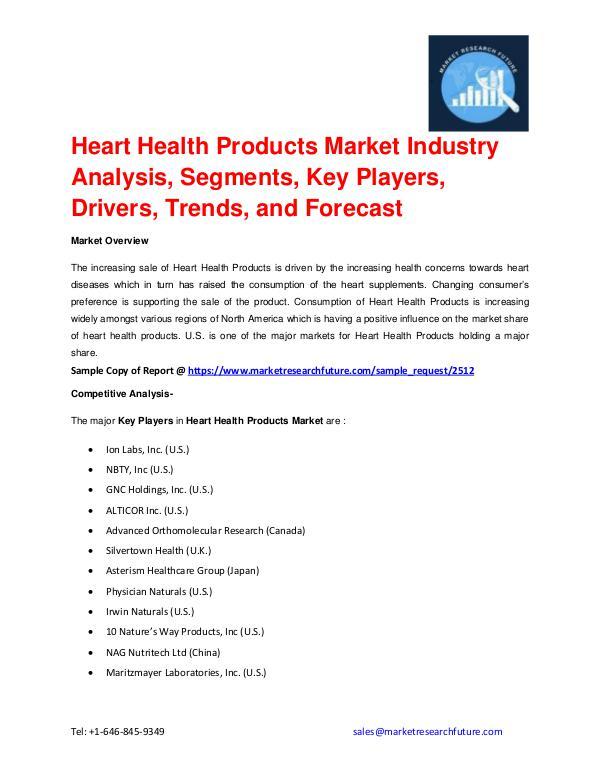 Heart Health Products Market Regional Analysis, Ke