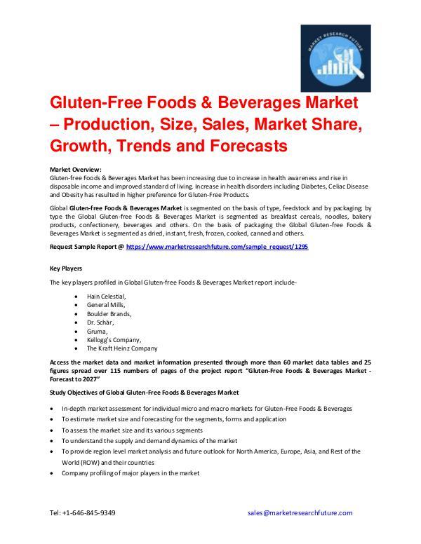 Gluten-Free Foods & Beverages Market Research, Com