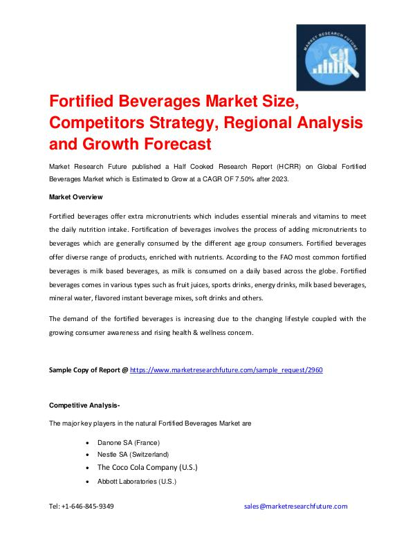 Fortified Beverages Market to Grow at CAGR of 7.50