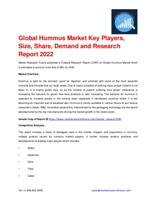 Hummus Market Research, Competitor Strategy