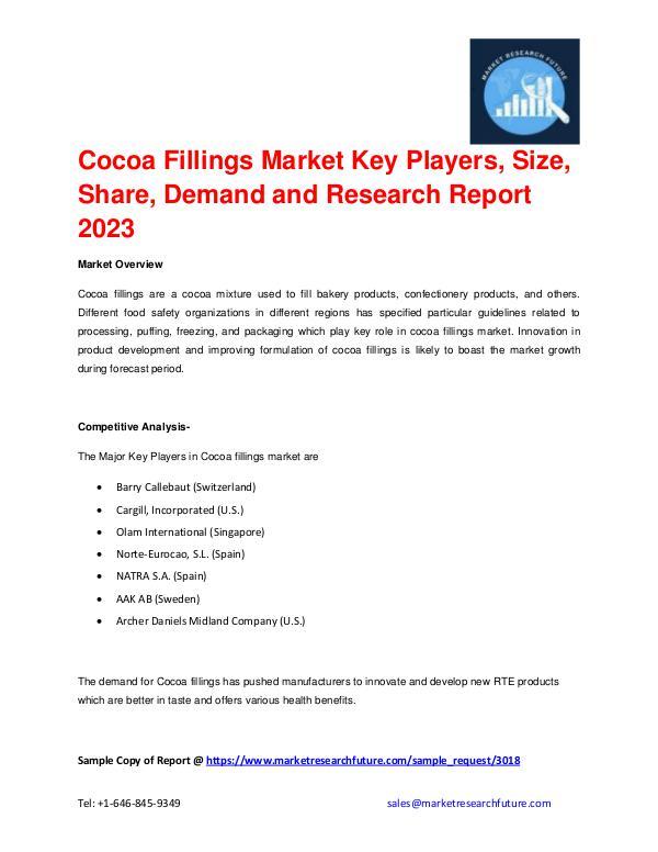 Cocoa Fillings Market 2016: Company Profiles