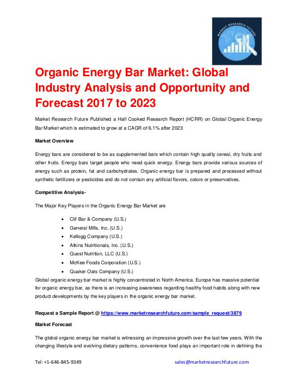Global Organic Energy Bar Market Forecast