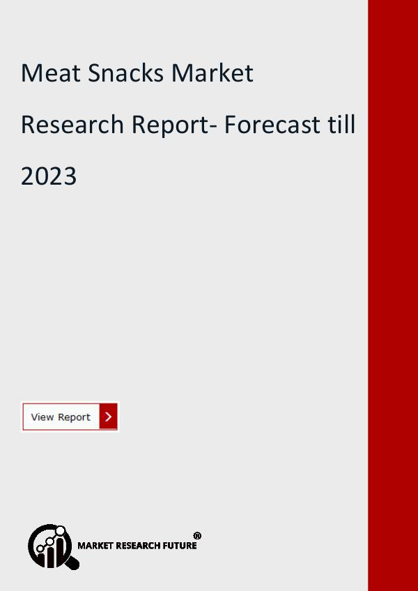 Meat Snacks Market Research Report- Forecast till