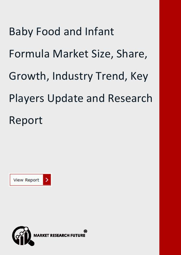 Baby Food and Infant Formula Market Research
