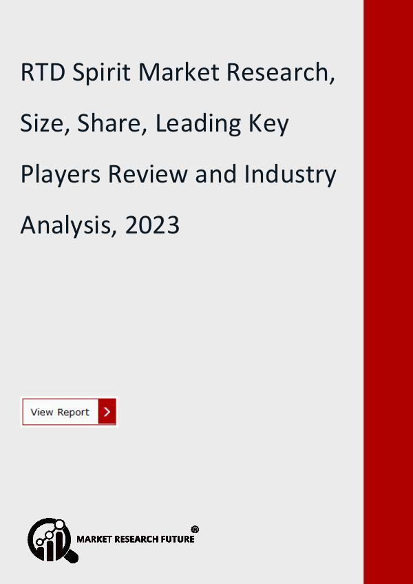 Market Research Future (Food and Beverages) RTD Spirit Market Research Report