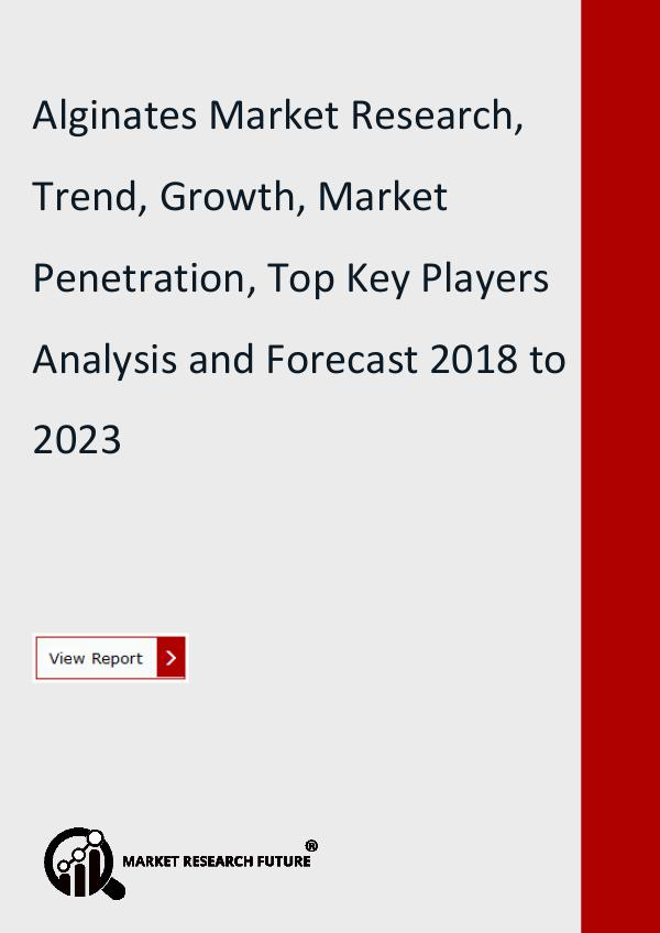Market Research Future (Food and Beverages) Alginates Market Research, Trend, Growth