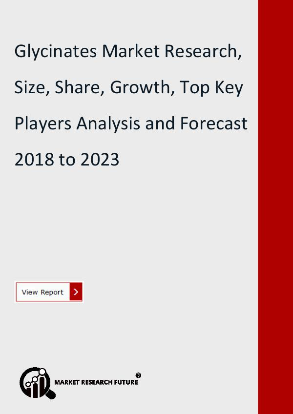 Market Research Future (Food and Beverages) Glycinates Market Research, Size, Share, Growth