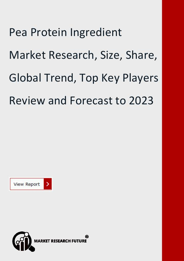 Market Research Future (Food and Beverages) Pea Protein Ingredient Market Research Report