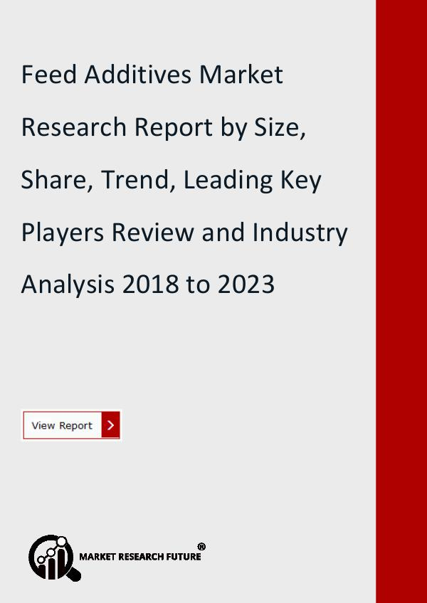 Market Research Future (Food and Beverages) Feed Additives Market Research Report- Forecast
