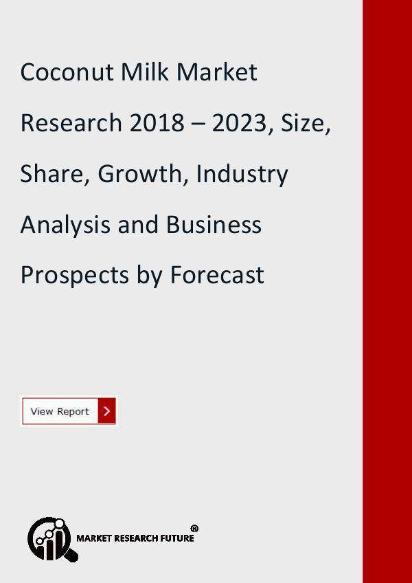 Market Research Future (Food and Beverages) Global Coconut Milk Market Research Report