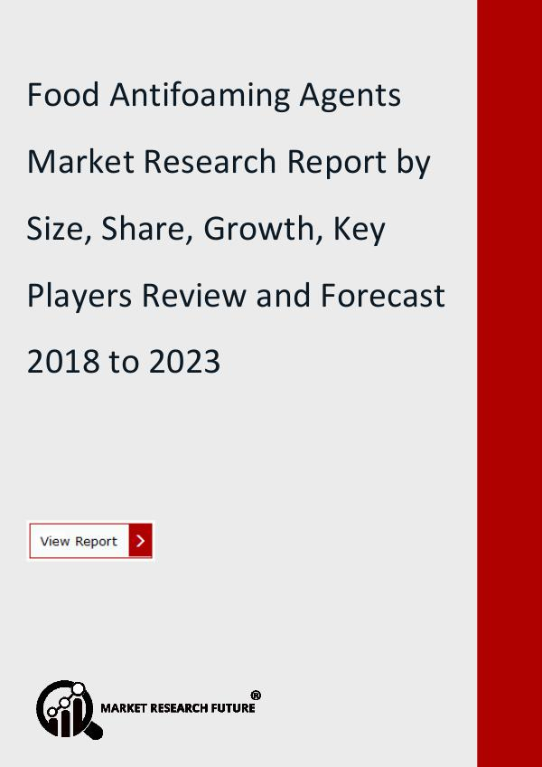 Market Research Future (Food and Beverages) Food Antifoaming Agents Market Research Report