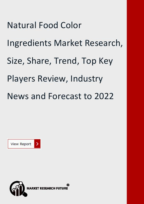 Natural Food Color Ingredients Market Research Rep