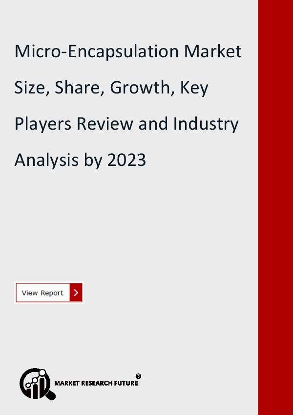 Micro-Encapsulation Market Research Report