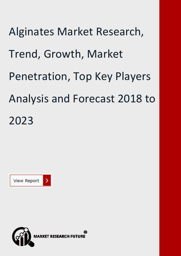 Market Research Future (Food and Beverages) Alginates Market Research Report - Forecast