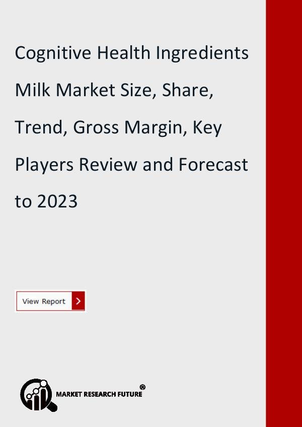 Market Research Future (Food and Beverages) Cognitive Health Ingredients Milk Market Research
