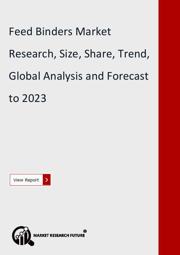 Market Research Future (Food and Beverages) Feed Binders Market Research Report
