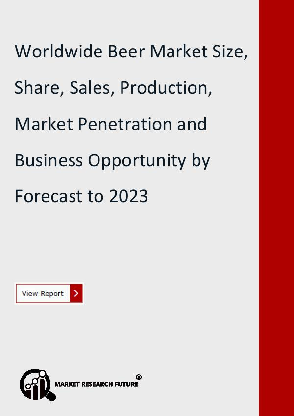 Market Research Future (Food and Beverages) Beer Market Research Report