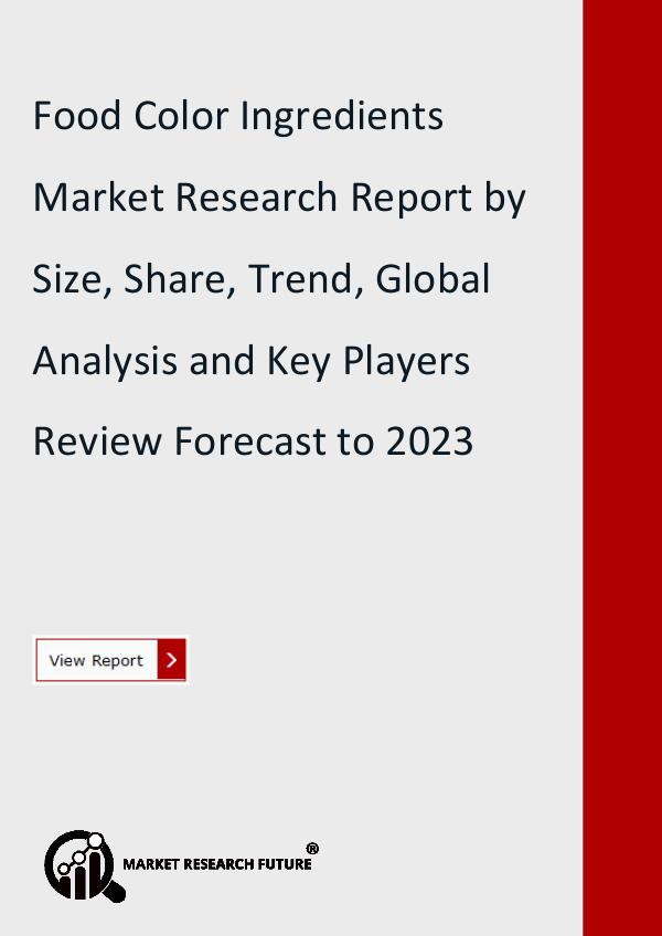 Market Research Future (Food and Beverages) Food Color Ingredients Market Research Report