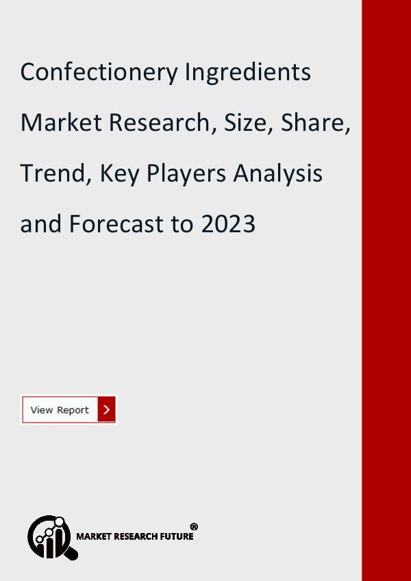 Market Research Future (Food and Beverages) Confectionery Ingredients Market Research Report