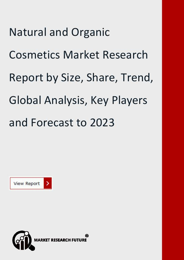 Natural and Organic Cosmetics Market Research