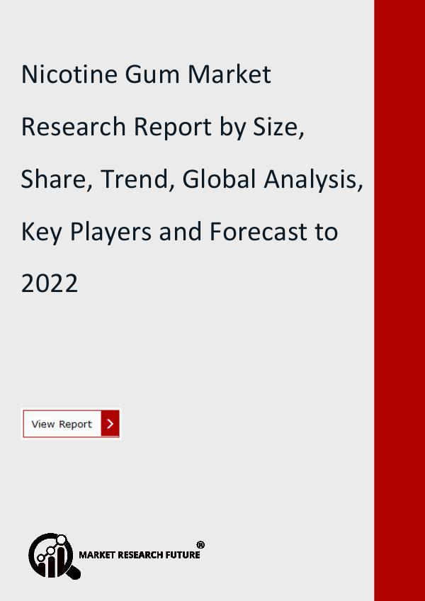 Market Research Future (Food and Beverages) Nicotine Gum Market Research Report by Size, Share