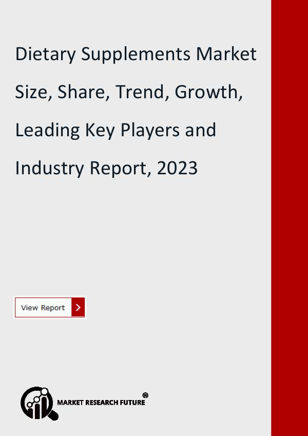 Market Research Future (Food and Beverages) Dietary Supplements Market Research Report