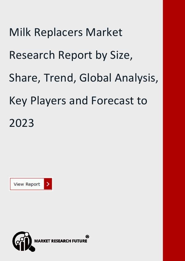 Market Research Future (Food and Beverages) Milk Replacers Market Research Report